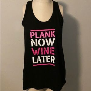 Athletic Tank - Plank Now Wine Later